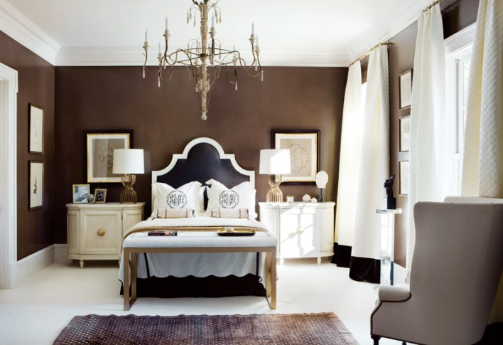 100) Beth Webb's design for this bedroom is as divine as rich chocolate.