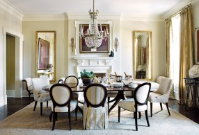 56) Carole Weaks imbues a formal dining room with casual touches.