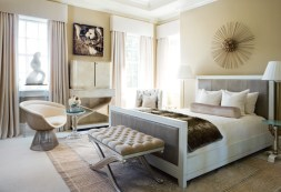 79) Scott Laslie designed this bedroom with a nod to glamour and divine textures.