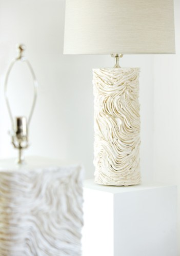The detail of one of his new lamp designs.