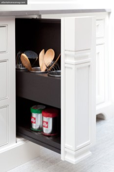 Custom built-ins keep utensils within arm's reach.