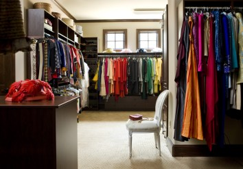 """These are my uniforms,"" says Monica of her coordinated-by-color on-air attire in her impeccably organized closet."