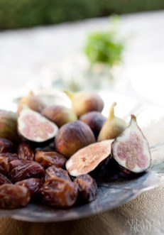 Figs and dates are arranged on a platter from Scout for the Home.