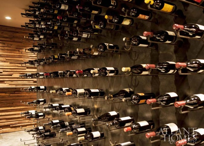 A 600-slot wine wall, nod to Kevin's three, and soon to be four, restaurants, provides a stunning art piece.