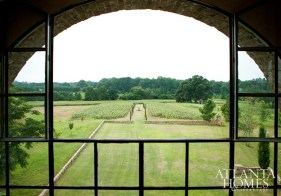 A view from the loggia at the top of Towerhouse provides an exceptional vantage point to admire the expanse of sunflowers and surrounding land.
