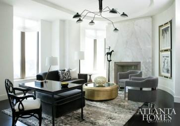 "Residence Under 3,500 Sq. Ft. // Gold Robert Grayson, ASID, Andrew Harris, ASID, GraysonHarris Interiors +Design, LLC ""The Residences at Mandarin Oriental � Atlanta"""
