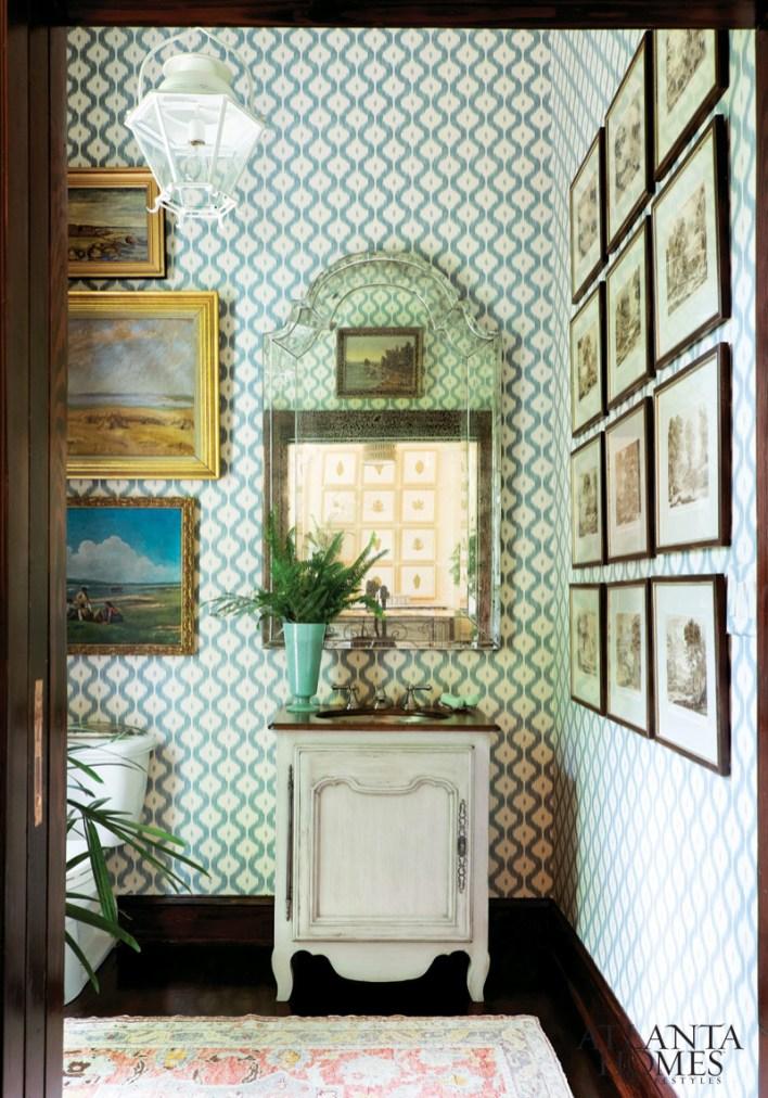 Powder Room by James T. Farmer; James Farmer Designs