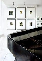 Ben's antique Steinway piano complements artwork by photographers Walker Evans and Edward Steichen.