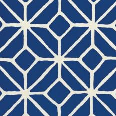"""""""Trellis Print"""" indoor/outdoor fabric in Marine by Trina Turk for F. Schumacher & Co., (404) 261-2742; schumacher.com"""