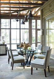 Covered porches and terraces account for more than 3,000 square feet of living space, blurring the line between indoors and out.