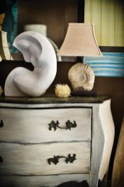 Mills' line of lamps and accessories, which feature various stones, such as ammonite, quartz and selenite, are available through PierceMartin, ADAC, (404) 495-9329; piercemartin.com.