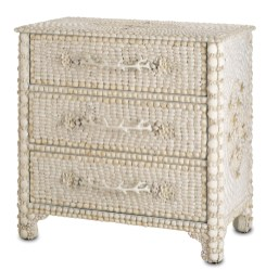 """Marchmont"" chest adorned with natural shells, $1,395. BEE"