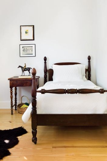 """Edward""""s bed is fondly referred to as Uncle Fontaine""""s bed; it once belonged to Elizabeth""""s relative Fontaine Weyman, namesake to Fontaine""""s Oyster House in Virginia-Highland."""