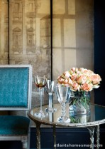 """Great barware is among Morris' must-haves, like these examples from Ralph Lauren and Tiffany. """"I love being able to offer someone a cocktail in a nice glass,"""" she explains."""