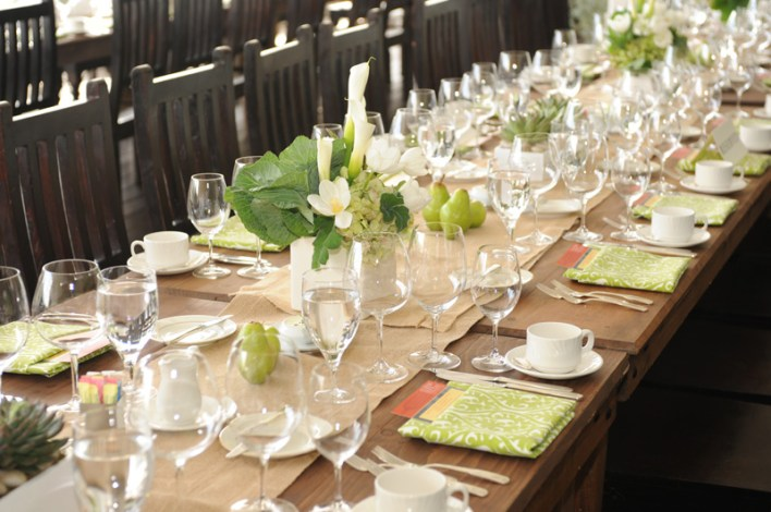 """A table setting at """"Terroir to Table: A Sustainable Brunch."""""""