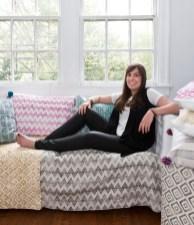 The designer at her Atlanta studio.