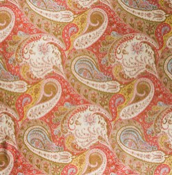 Molucca Paisley fabric by Lee Jofa. Available through Lee Jofa.