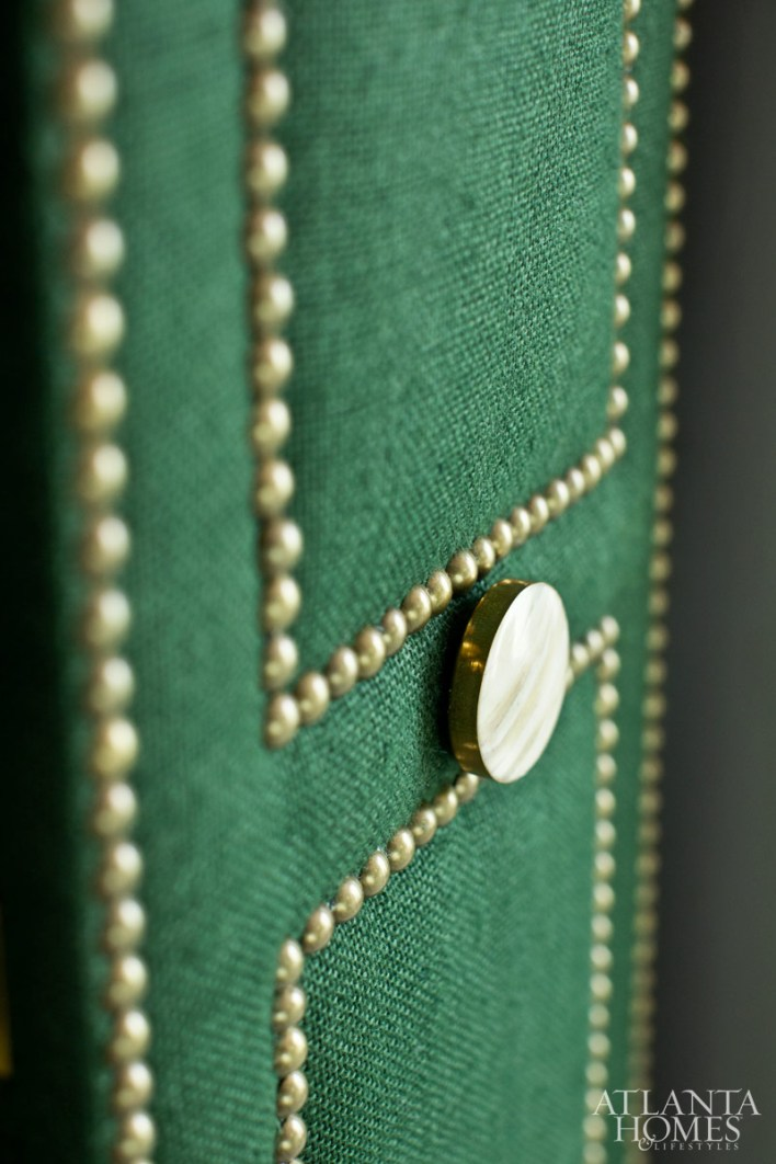 Upholstered closet doors by Drapes & More.