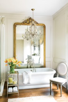 60) Restrained opulence best describes this inviting bathroom by Amy D. Morris.