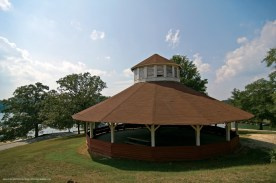 Hall County When Lake Lanier was completed in 1958, most of the buildings in Chattahoochee Park were covered by water. Rotting timbers threaten the sole pavilion structure, which features an intricate roof trussing system.