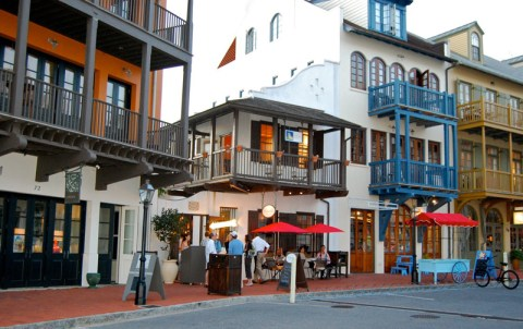 Main Street, Rosemary Beach-style, is lined with casual restaurants, shops and galleries.