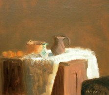 """Still Life with Pitcher and Vase"" oil on canvas by Giovanni Casadei, $2,300. Anne Irwin Fine Art, 25-D Bennett St. NW, Atlanta 30309. (404) 352-1855; anneirwinfineart.com"
