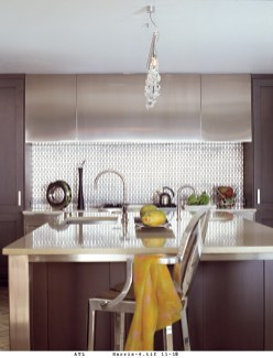 49) Led by Matthew Quinn, Design Galleria Kitchen & Bath Studio created this one-of-a-kind kitchen by juxtaposing stainless stee