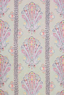 """""""I""""m loving the new Grand Paisley fabric in pink and gray from No.9 Thompson, which was recently introduced at Deco Off in Paris!"""" """"Chad Holman Fabric from No. 9 Thompson by Jim Thompson, available through Jerry Pair & Associates."""