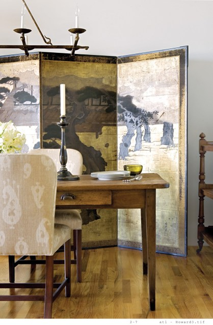 58) Phoebe Howard's former dining room features an eclectic mix of pieces.