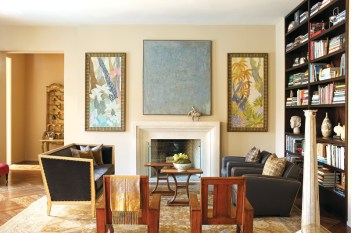 85) The living room of Katie and Ian Walker reflects a passion for collecting.