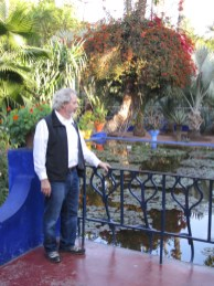 William Harrison at Jardin Majorelle.