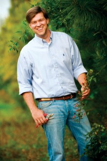Twenty-nine-year-old James Farmer III studied horticulture at Auburn University before establishing his own design firm.