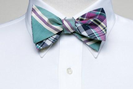 Social Primer Madras/Herring-Bone bow tie. $65. Brooks Brothers, Lenox Square. (404) 237-7000; brooksbrothers.com