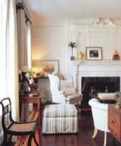 OVER THE COURSE OF HIS CAREER, CARITHERS DESIGNED COUNTLESS PRIVATE RESIDENCES, AS WELL AS A SELECT GROUP OF SHOWHOUSES, INCLUDING THIS ONE IN WILLIAMSBURG, VIRGINIA, FOR THE 20TH ANNIVERSARY OF ISSUE OF COLONIAL HOMES MAGAZINE. Photograph by Maura McEvoy, reprinted with permission