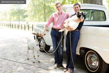 Paul and Harris let the country road take them home via a vintage 1965 Ford pick-up truck. The two-year renovation of the once run-down 1850s home was truly a labor of love.