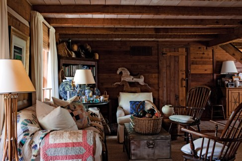 36) Stan Topol's living room personifies his personal style.