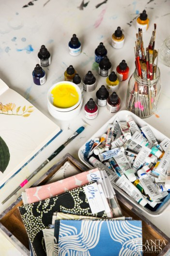 Like a work of art, each pattern begins with a brushstroke and India ink.