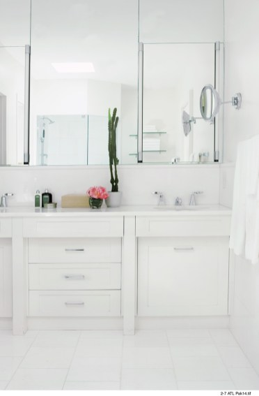 67) Without sacrificing style, Tim Hobby and Yong Pak pared down this bathroom to its chicest essentials.