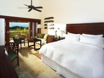Chic Caribbean style is on view in every hotel room, thanks to mahogany furniture, stylish textiles and louvered patio doors.