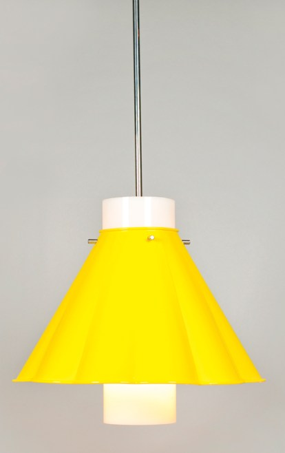 Wainscott pendant light by Richard Mishaan in sunflower yellow, starting at $1,515. The Urban Electric Co., (843) 723-8140; urbanelectricco.com