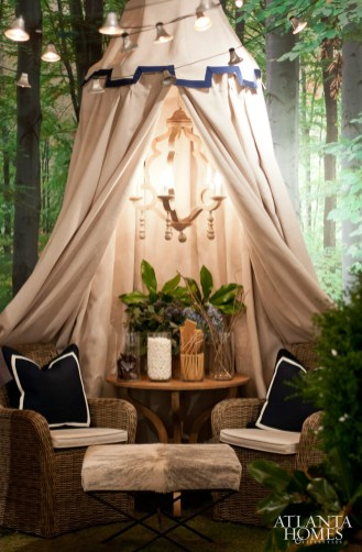 Vignette designed by Clay Snider Interiors for chef Nick Reppond of Mississippi