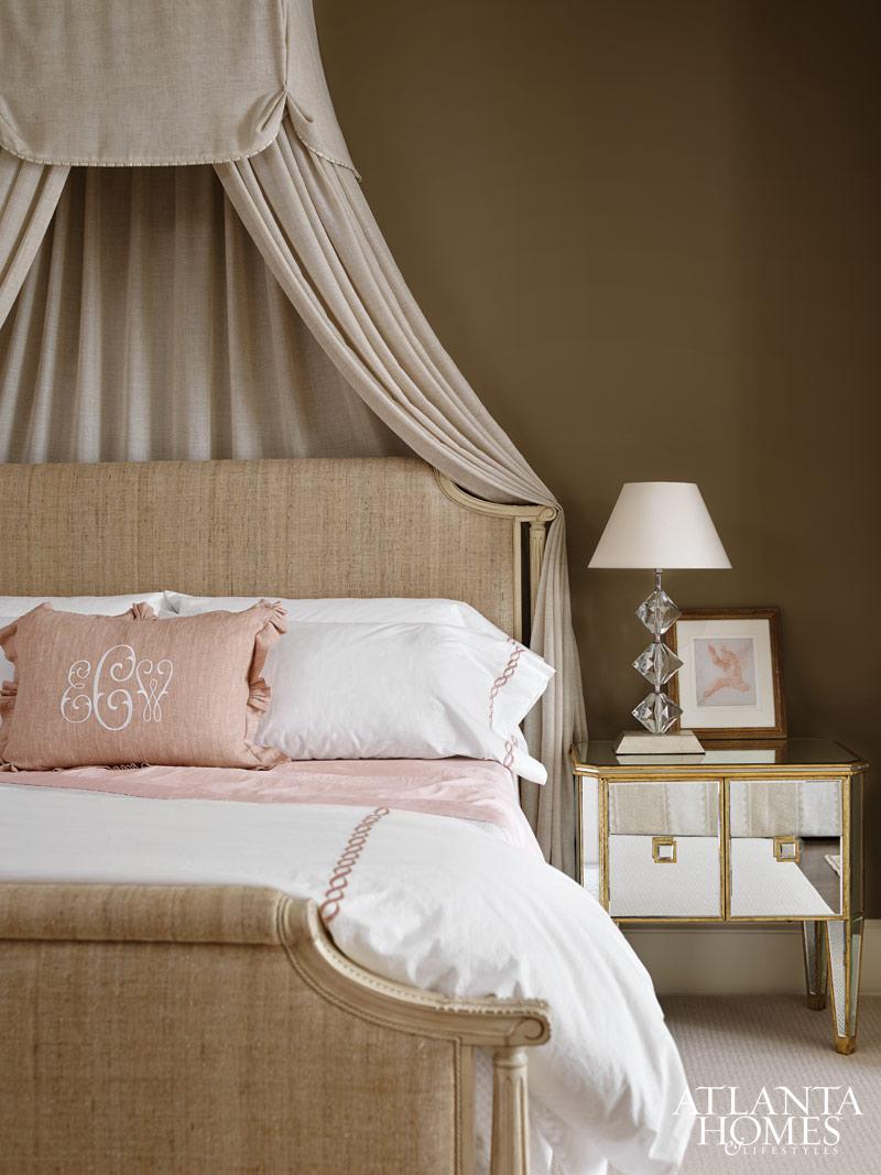 Pink And Beige Master Bedroom