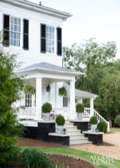Honeymoon, Jimmy Stanton and Patrick Greco's newest home away from home, stands on five-plus acres of land just one mile from downtown Madison, Georgia. The antebellum residence—the second the pair has purchased in this charming town an hour from Atlanta—belies its contemporary interiors.
