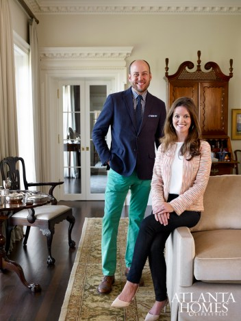 Architect William B. Litchfield and designer Caroline Willis crafted a classically inspired abode. The sofa is Travis & Company, upholstered in a Great Plains mohair. The tea table and armchair are Chippendale.