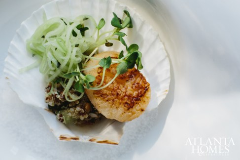 Sea scallops with tabbouleh.