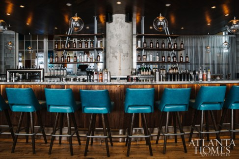 The 36-seat bar represents the restaurant's classic roots.