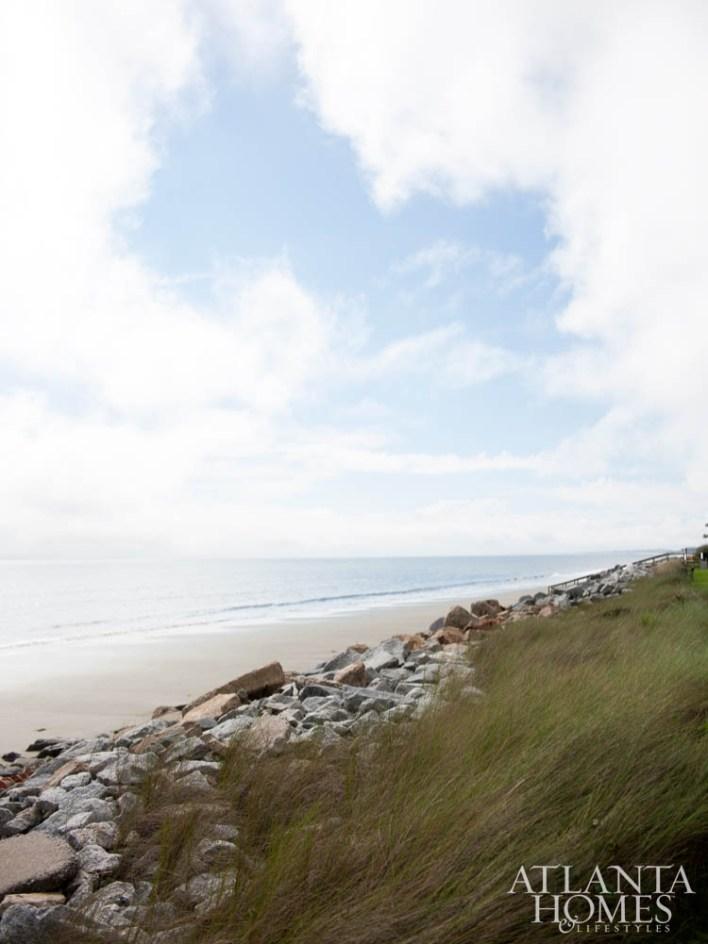 Sea Island's sandy shores just beyond the backyard.