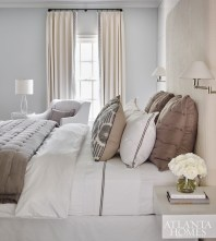 The guest bedroom was given a lighter and brighter design scheme.