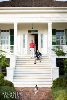 Randolph is the master of the house and the first down the steps to greet Spitzmiller and Dave Trent's many frequent guests at Redland.