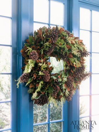 """""""I love anything garden-inspired and have a slight obsession with birds, so when I was invited to work with Weston Farms to create my own specially designed holiday greenery, we named it 'Danielle's Lark,'"""" says Rollins."""